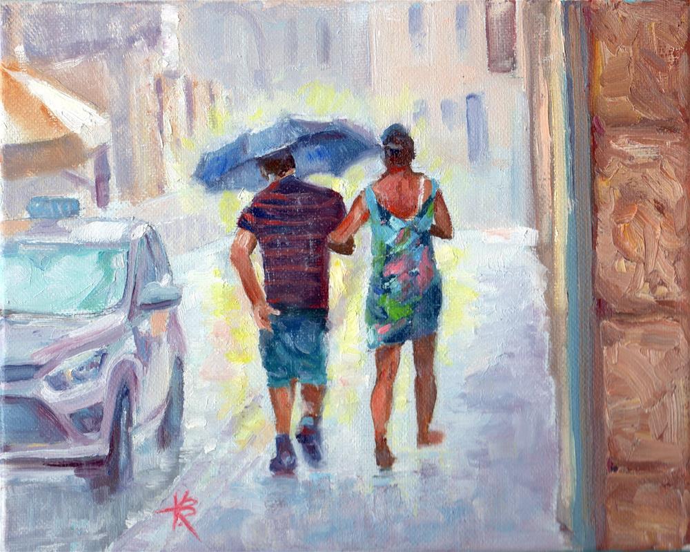 """Rainy Escape"" original fine art by Kathy Bodamer"