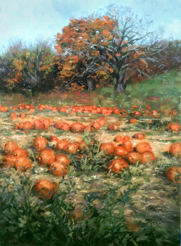 """Heaven Hill Farm Pumpkins 2"" original fine art by Danny O'Leary"