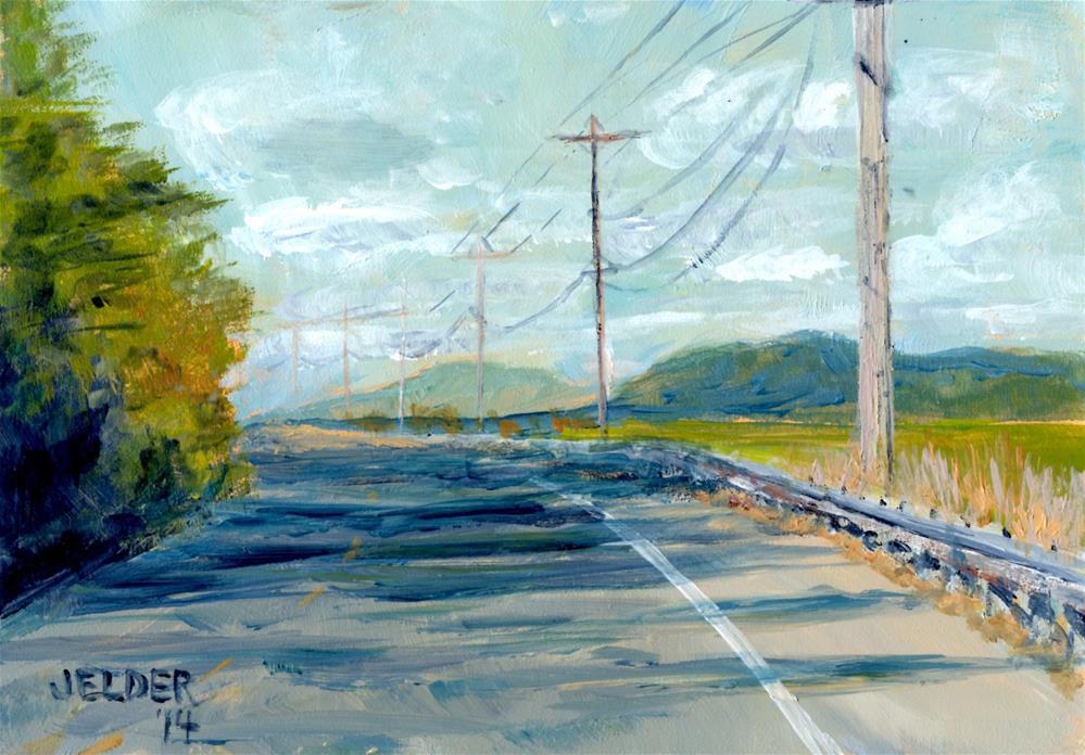 """PNW Highway"" original fine art by Judith Elder"