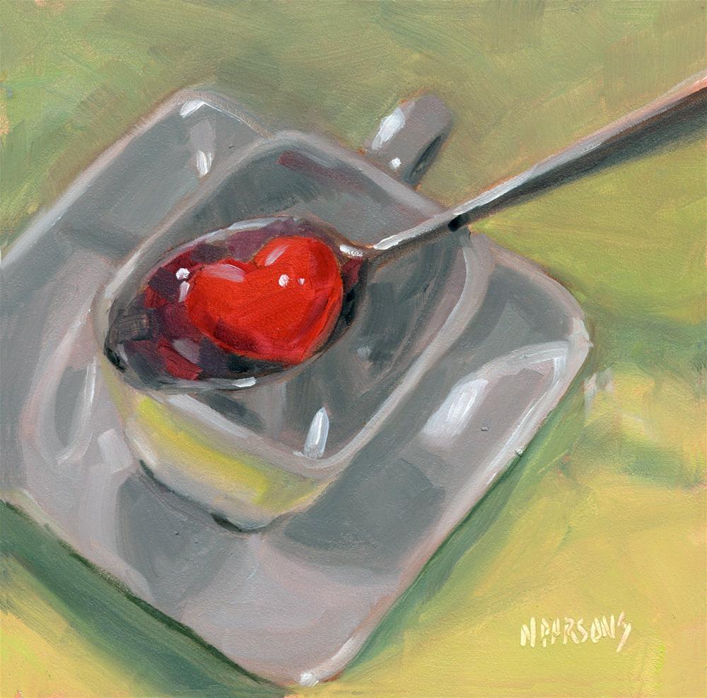 """I Give You My Heart"" original fine art by Nancy Parsons"