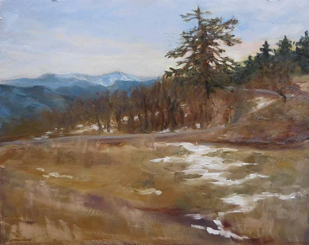"""""""Snowy Path"""" original fine art by Cietha Wilson"""