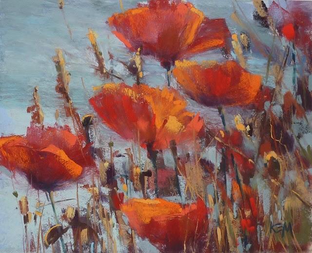 """The Secret to Painting Luminous Reds"" original fine art by Karen Margulis"
