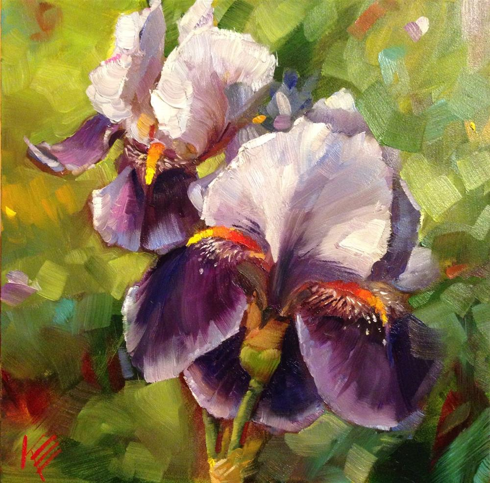 """Bearded Irises"" original fine art by Krista Eaton"