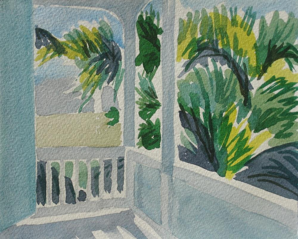 """Key West Balcony"" original fine art by Priscilla Bohlen"