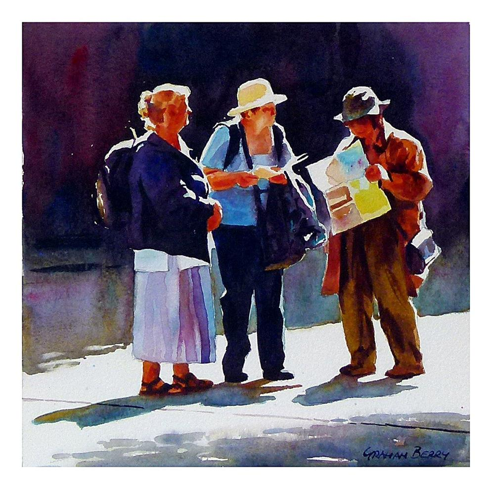 """I think we're here."" original fine art by Graham Berry"