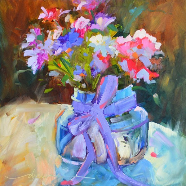 """""""A Lavender Kind of Day"""" original fine art by Dreama Tolle Perry"""