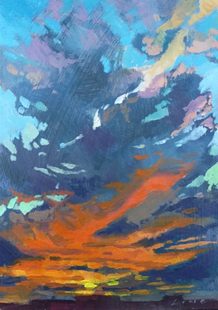 """""""Sky"""" original fine art by Chris Long"""