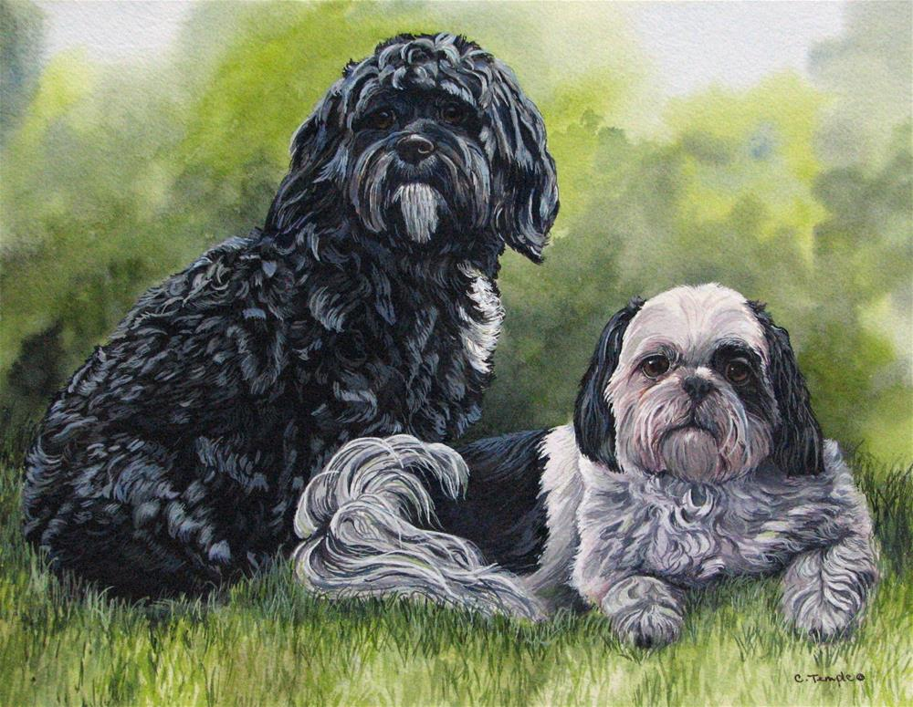 """""""Maxine and rudy"""" original fine art by Catherine Temple"""