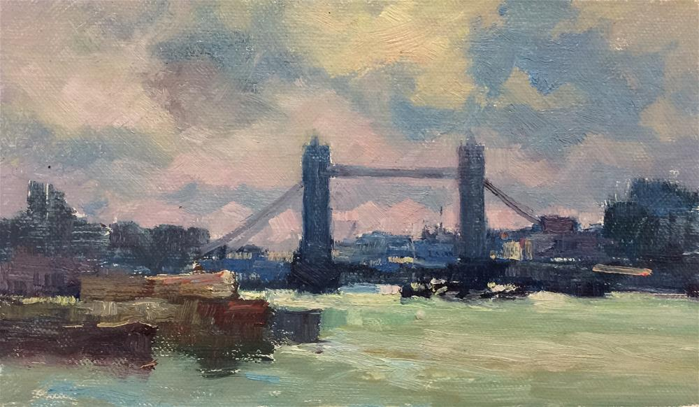 """The Thames at Rotherhythe"" original fine art by John Shave"