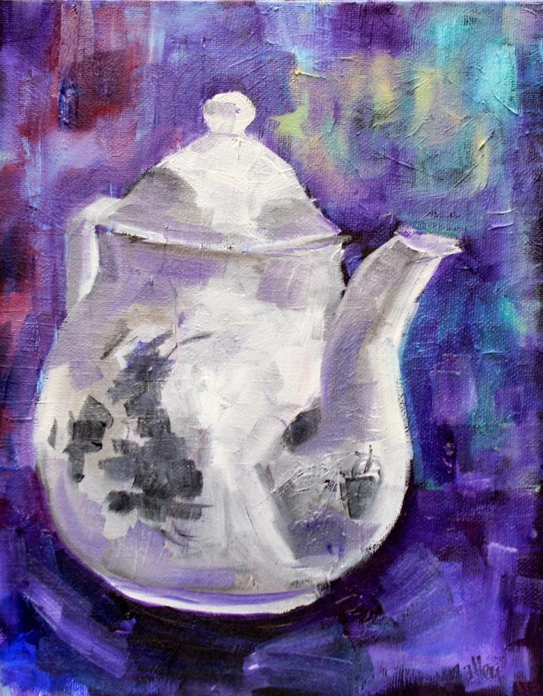 """""""Modern Monday: Patience, Set Design, Teapots and Chairs"""" original fine art by Maggie Flatley"""