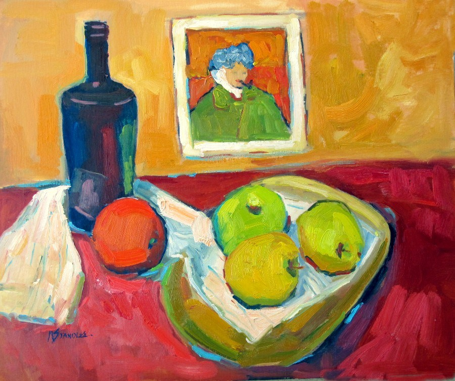 """Van Gogh's Table, 12129"" original fine art by Nancy Standlee"