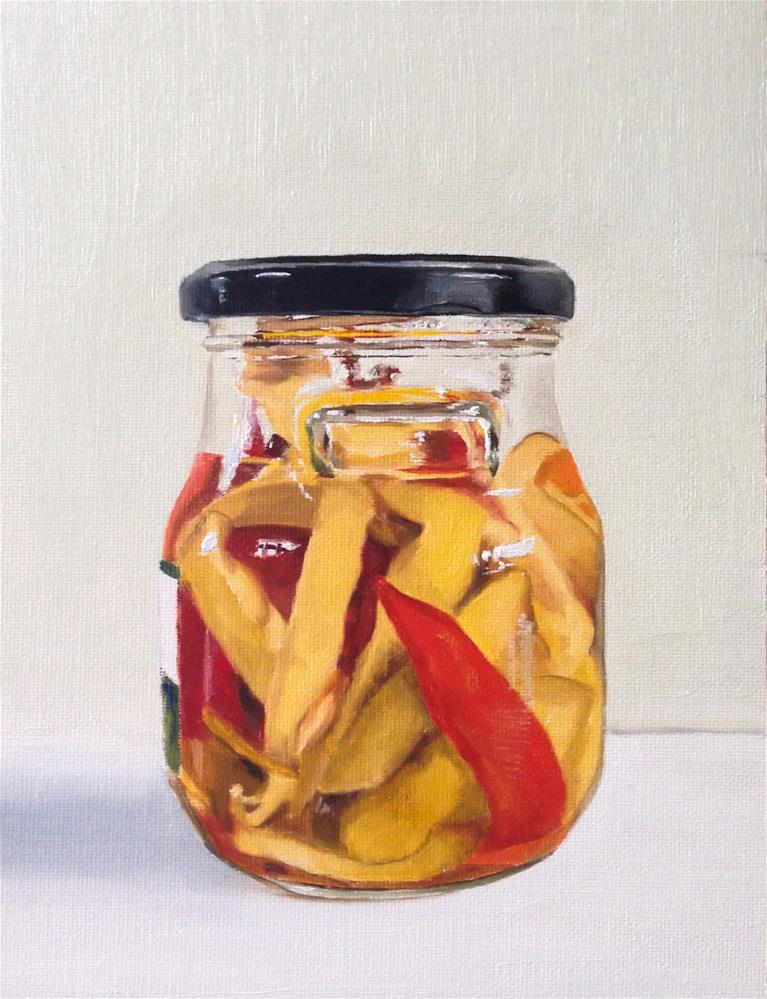 """Jar of Chillies"" original fine art by James Coates"