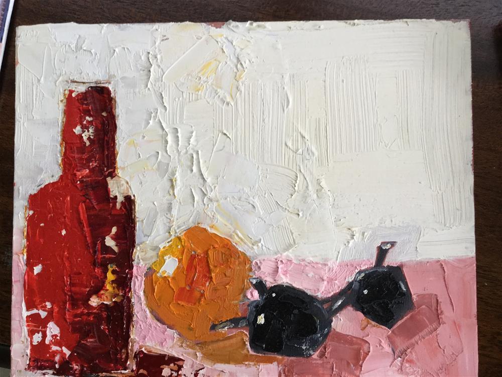 """""""Breakfast in Palm Beach"""" original fine art by pamela kish"""