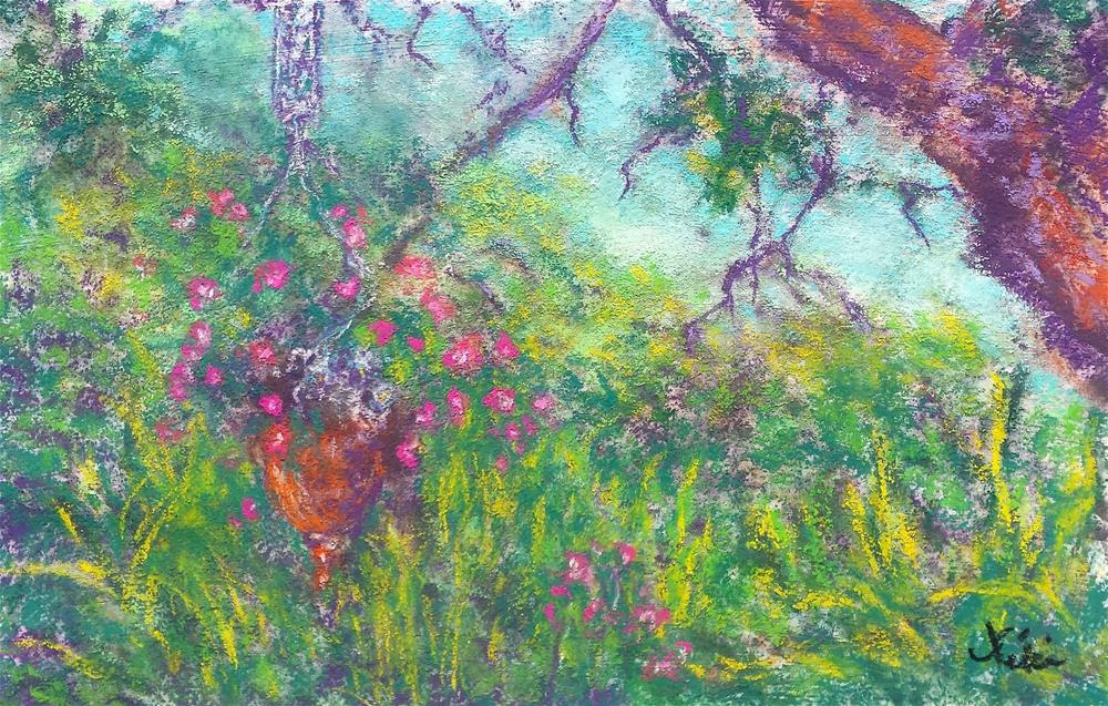 """Secret Garden"" original fine art by Niki Hilsabeck"