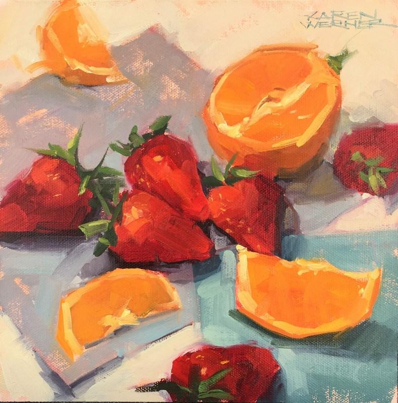 """Juicy Fruit"" original fine art by Karen Werner"