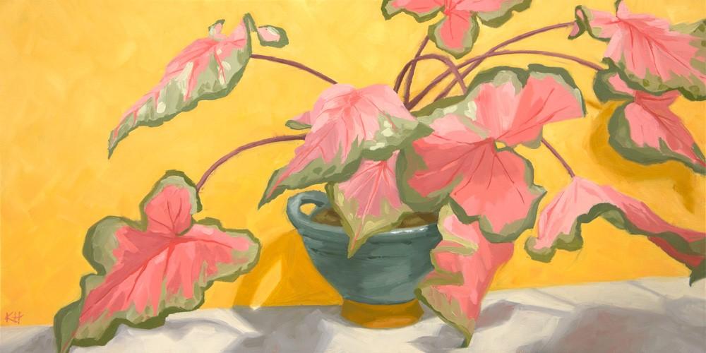 """Caladiums"" original fine art by Kerry Hastings Hogan"