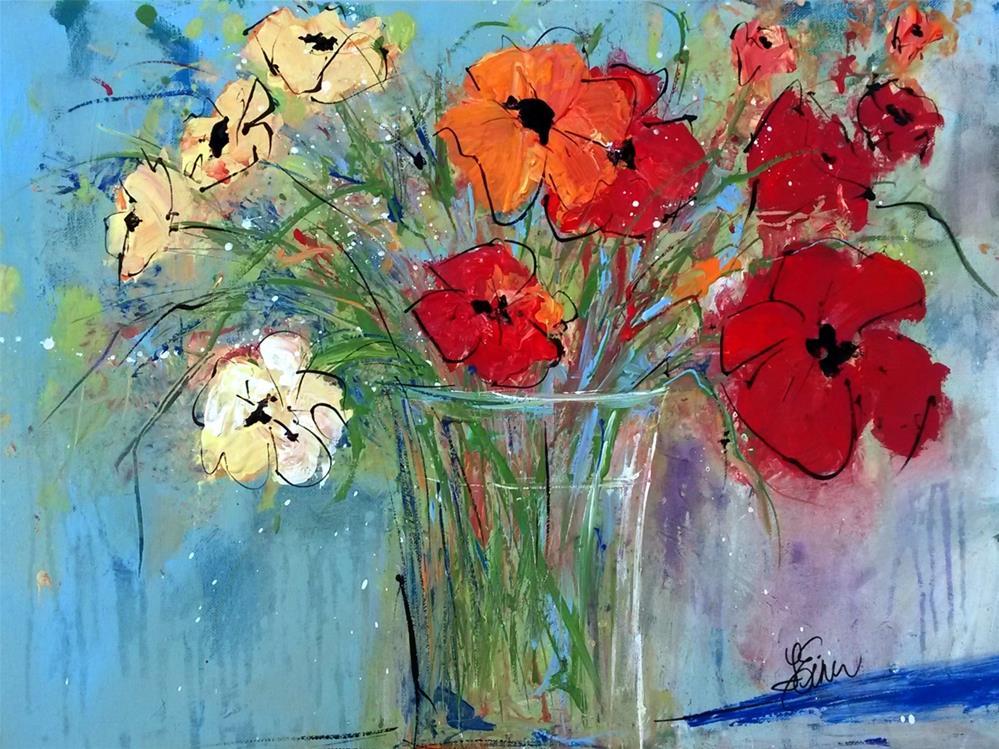 """""""Flower Delivery"""" original fine art by Terri Einer"""