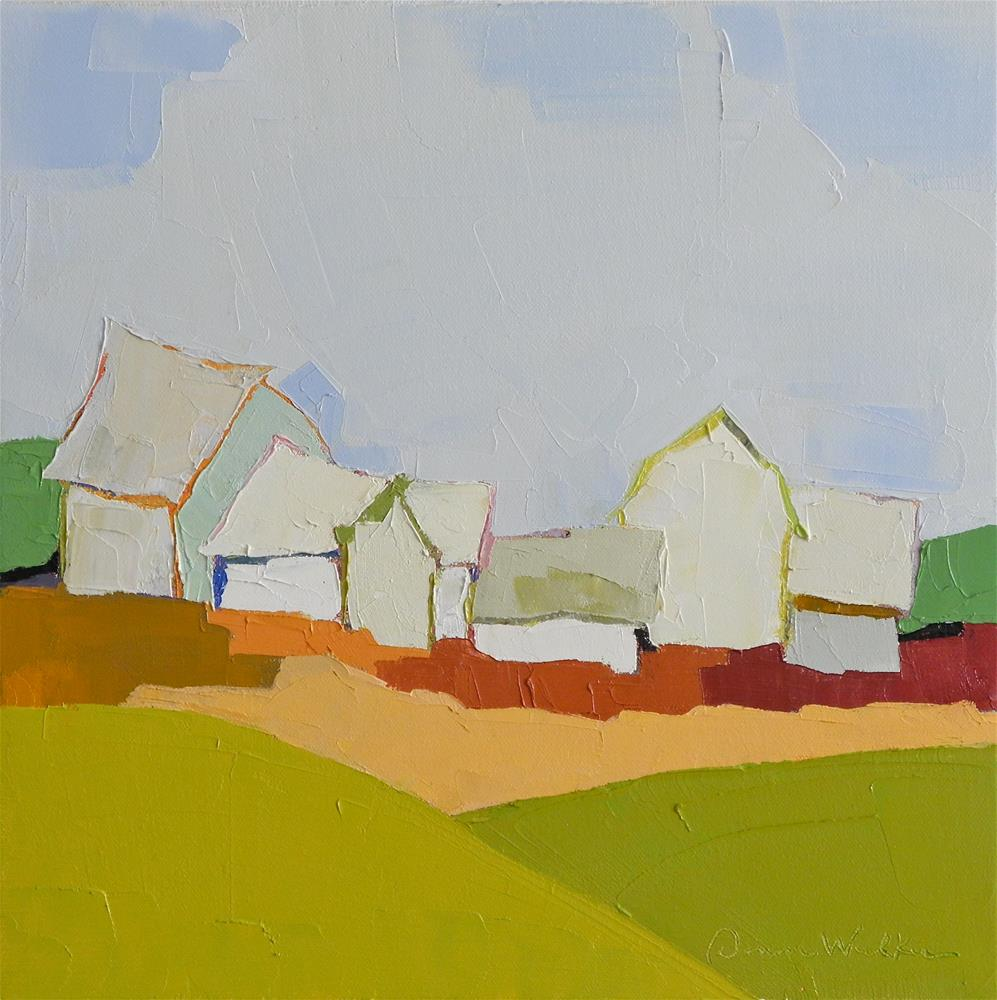 """Farmland Symphony"" original fine art by Donna Walker"