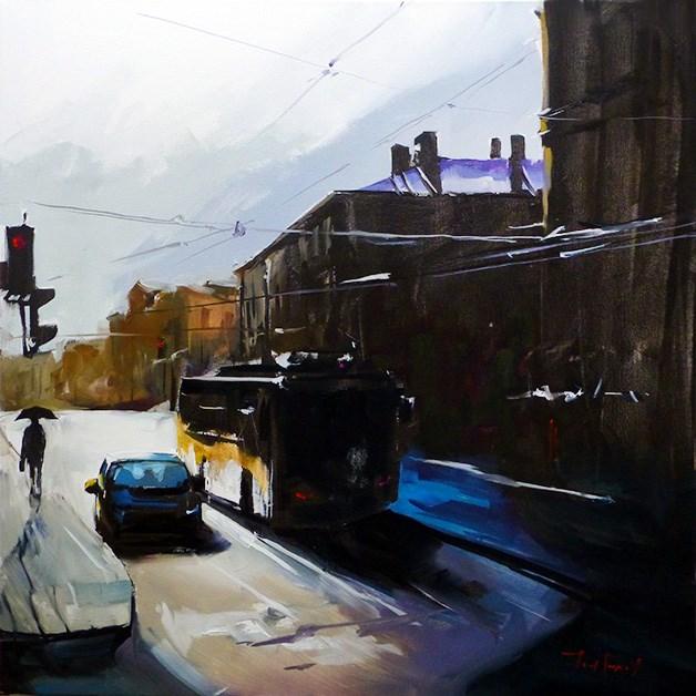 """""""Street"""" original fine art by Jurij Frey"""