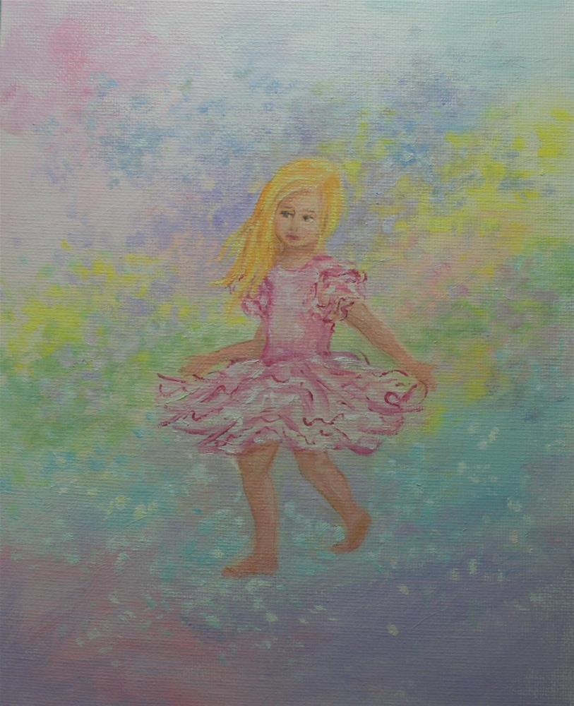 """""""Dancing in the Sunshine and Rainbows"""" original fine art by Jean Nelson"""