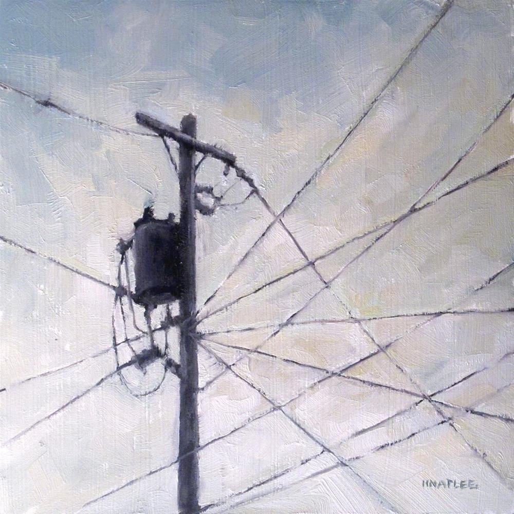 """""""Intersecting Wires"""" original fine art by Michael Naples"""