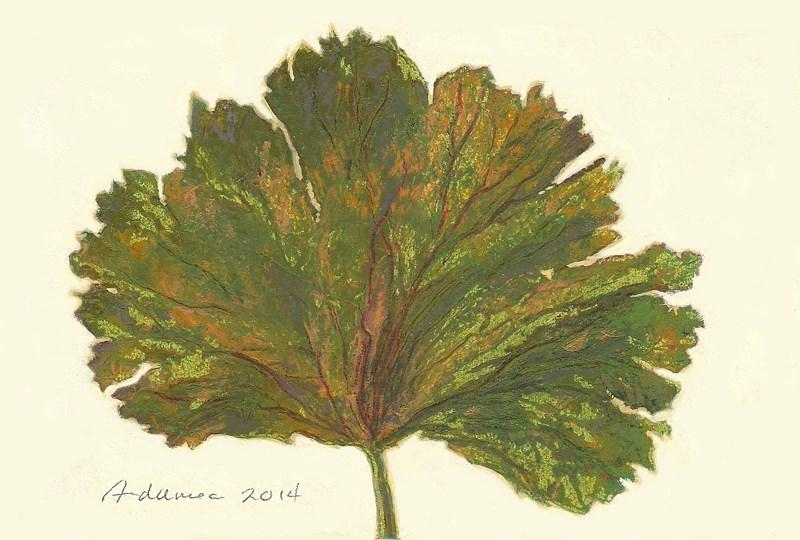 """""""Autumn Leaf #1"""" original fine art by Carol L Adamec"""