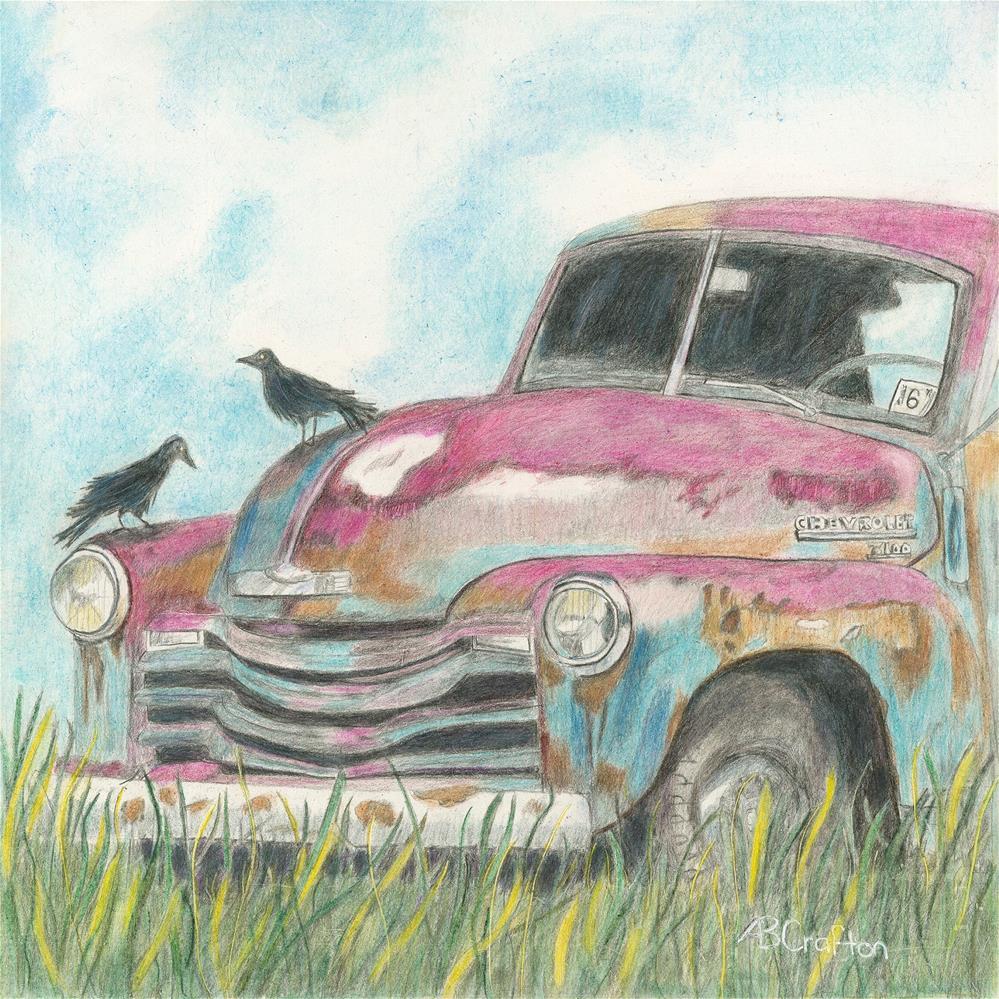 """Rust In Peace"" original fine art by Arlene Crafton"