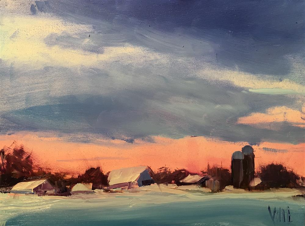 """#280 Minnesota Winter"" original fine art by Patty Voje"