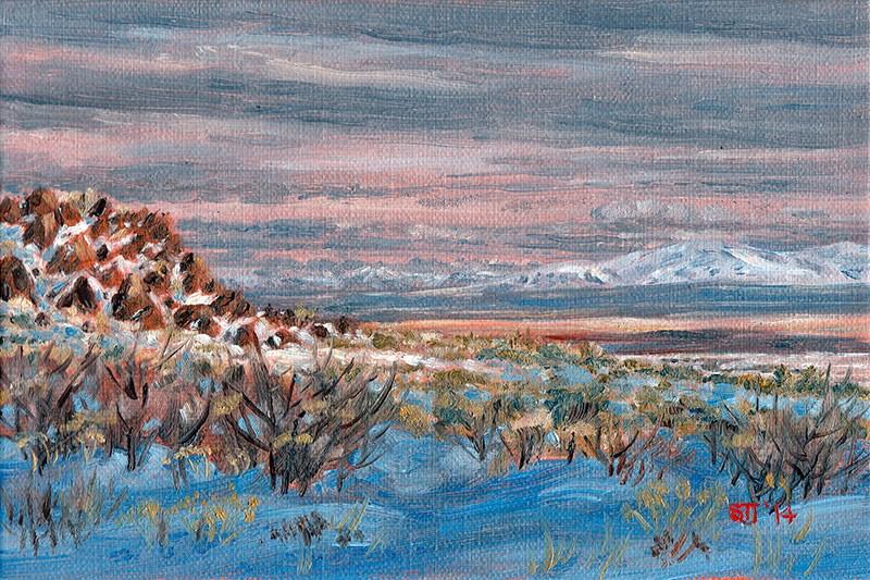 """""""C1586 Forty Miles of High Desert (Hart Mountain National Antelope Refuge, Oregon High Desert)"""" original fine art by Steven Thor Johanneson"""