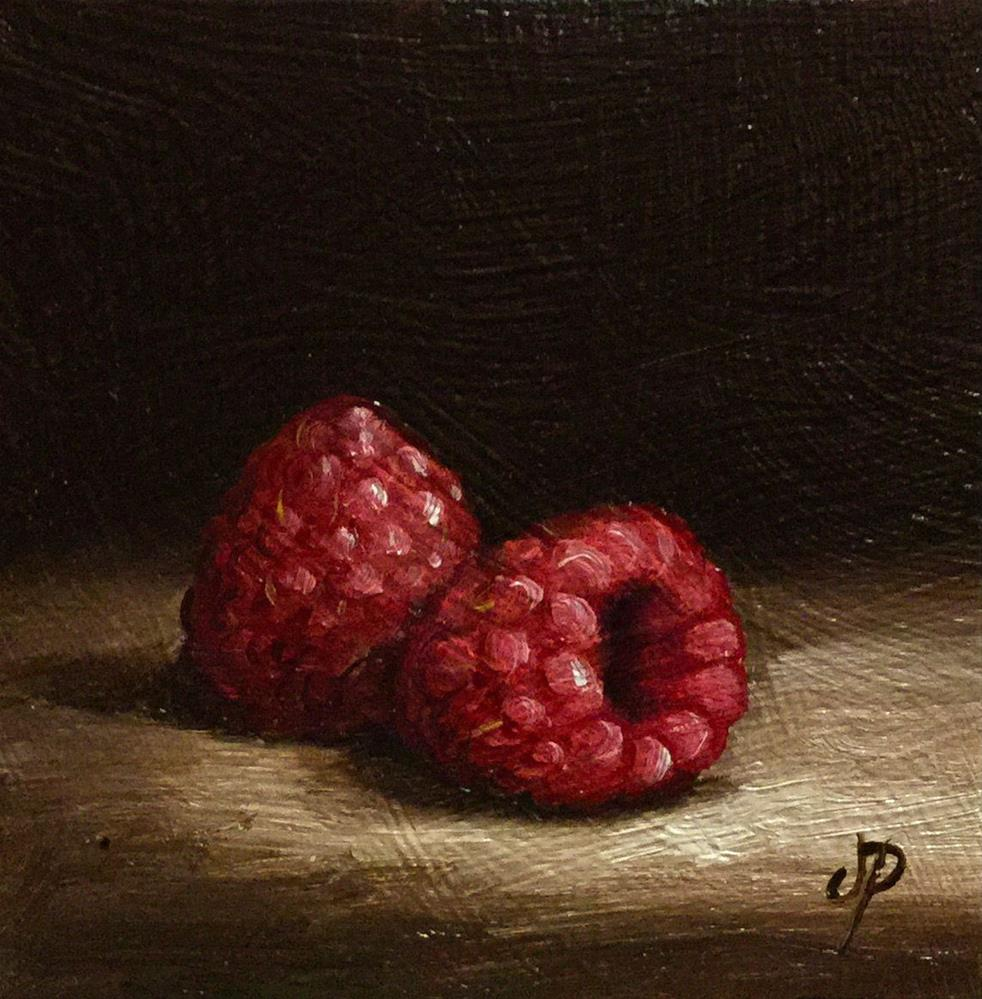 """Little Raspberries"" original fine art by Jane Palmer"
