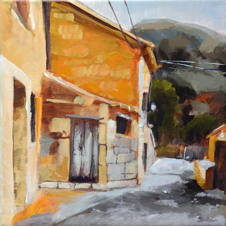 """1089 An Alley in Deia"" original fine art by Dietmar Stiller"