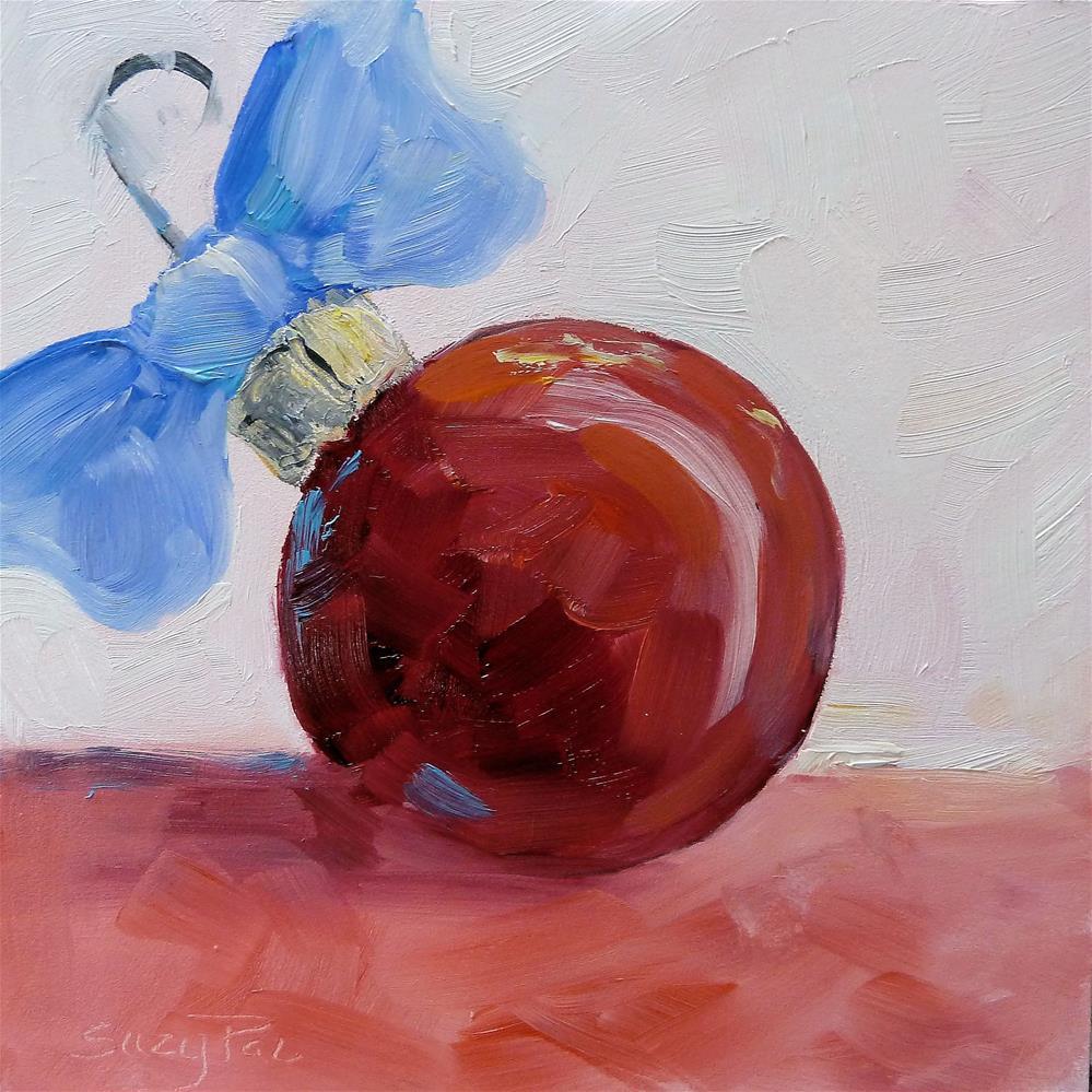 """Red Christmas Ornament"" original fine art by Suzy 'Pal' Powell"