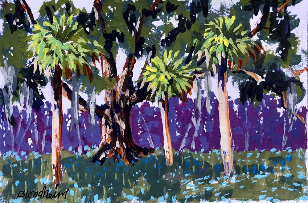 """Three Palms"" original fine art by Linda Blondheim"