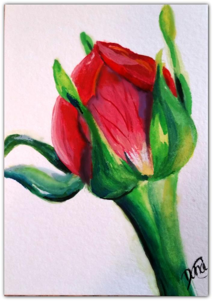 """Bud of Hope"" original fine art by Dana C"