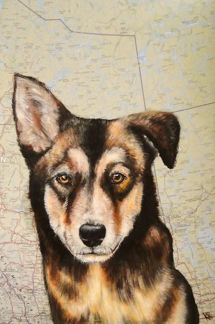 """""""Sled-dog puppy"""" original fine art by Karen Robinson"""
