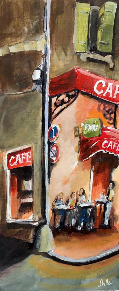 """2618 Evening Convrsation"" original fine art by Dietmar Stiller"