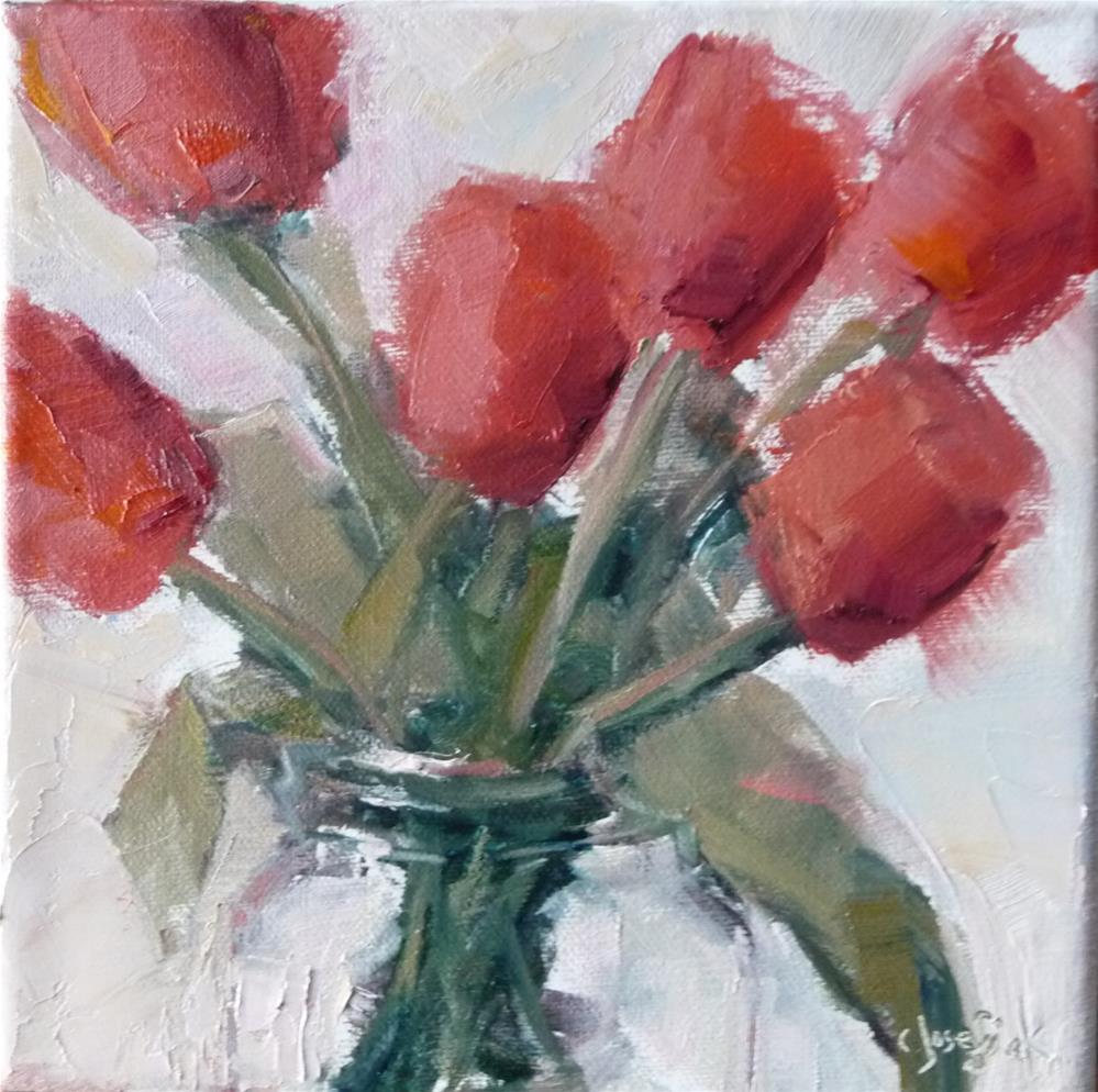 """Tulips"" original fine art by Carol Josefiak"