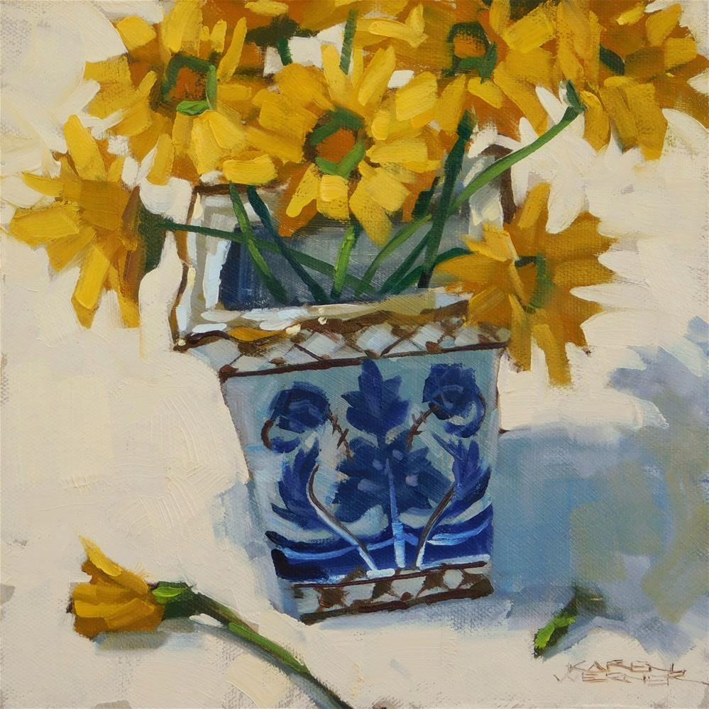 """Ginger Jar Mums"" original fine art by Karen Werner"