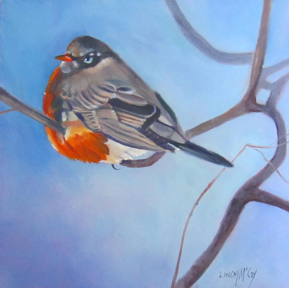 """Split Decision, Bird Oil Painting, Linda McCoy"" original fine art by Linda McCoy"