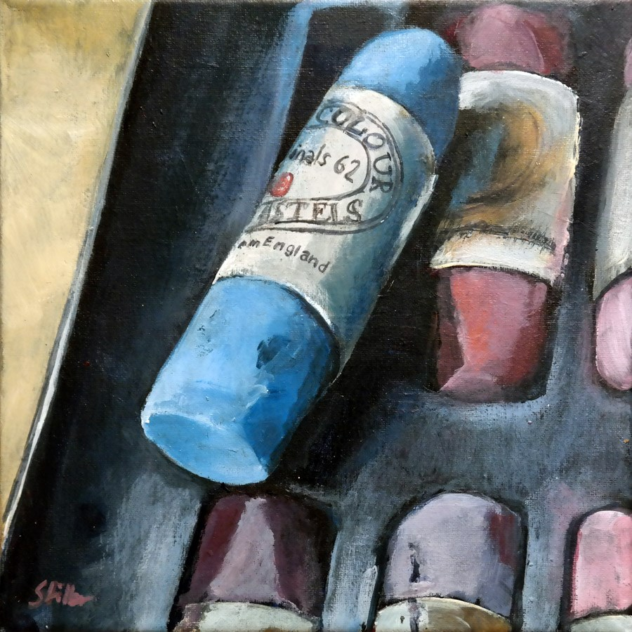 """1670 Pastel in Acrylic"" original fine art by Dietmar Stiller"