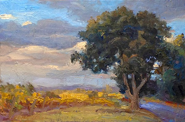 """Thomas Road Oaks"" original fine art by Michael Coy"