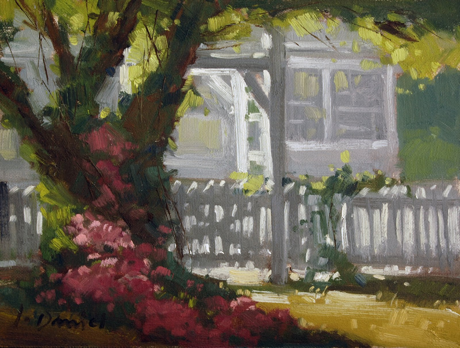 """Sunlit Arbor"" original fine art by Laurel Daniel"