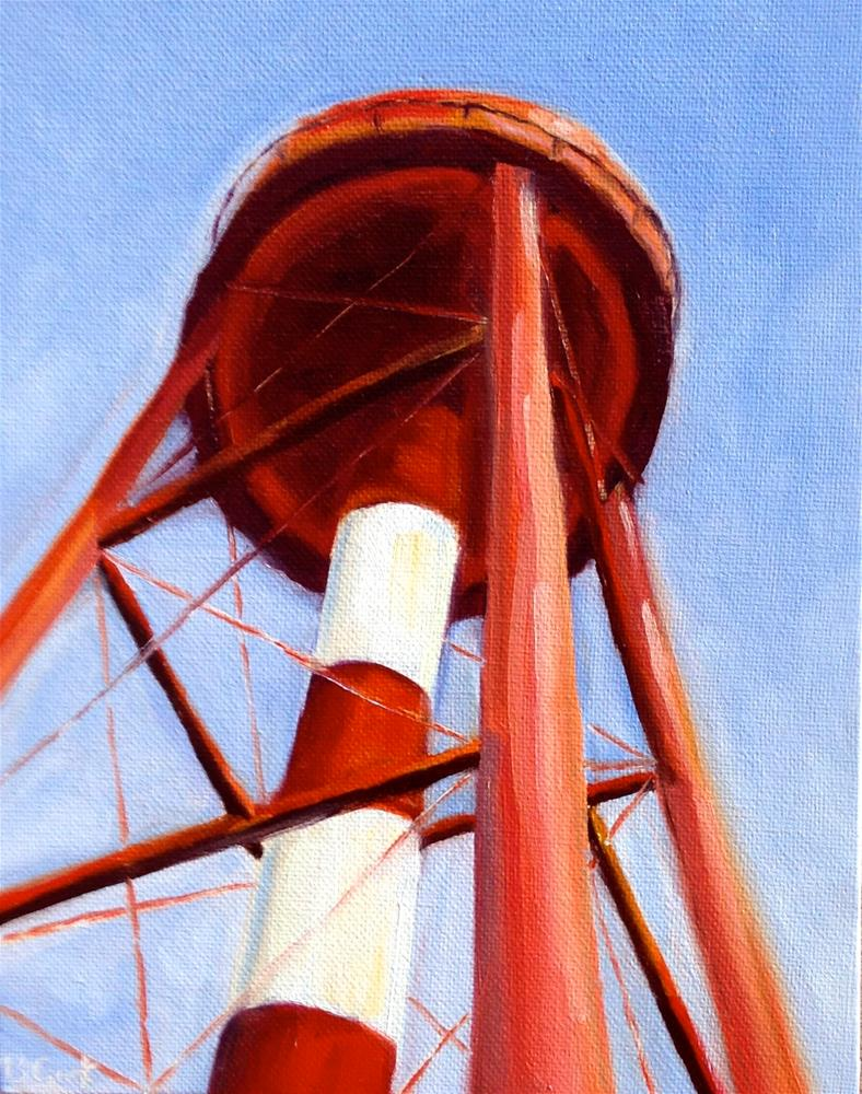 """""""Government Hill water tower"""" original fine art by Bobbie Cook"""
