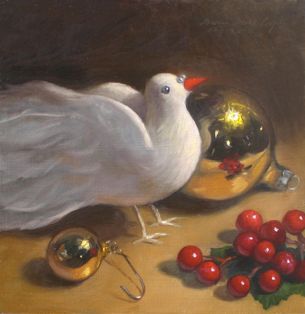 """Christmas Dove"" original fine art by Debra Becks Cooper"