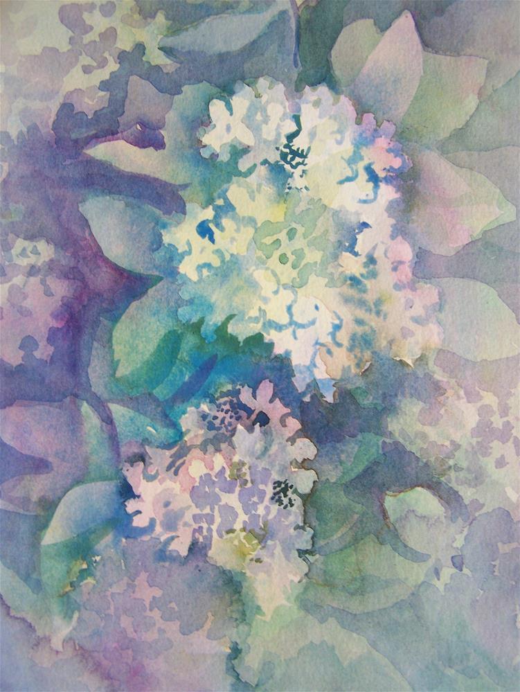 """""""Hydrangea #2"""" original fine art by Joan Reive"""