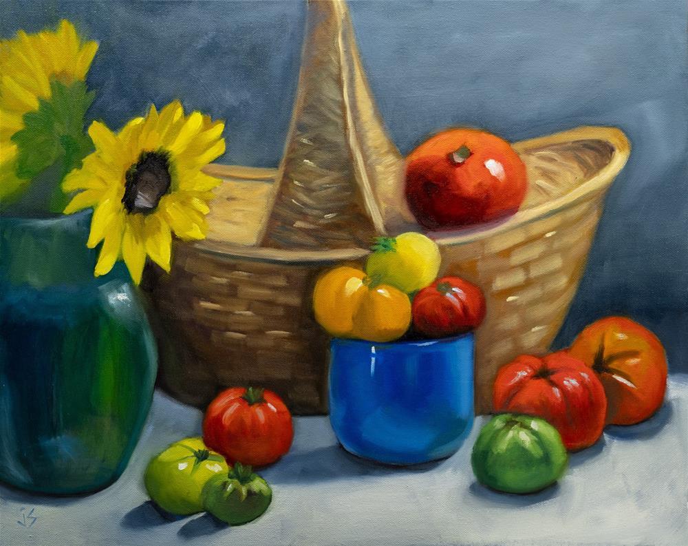 """""""Just Picked! (16x20)"""" original fine art by Johnna Schelling"""