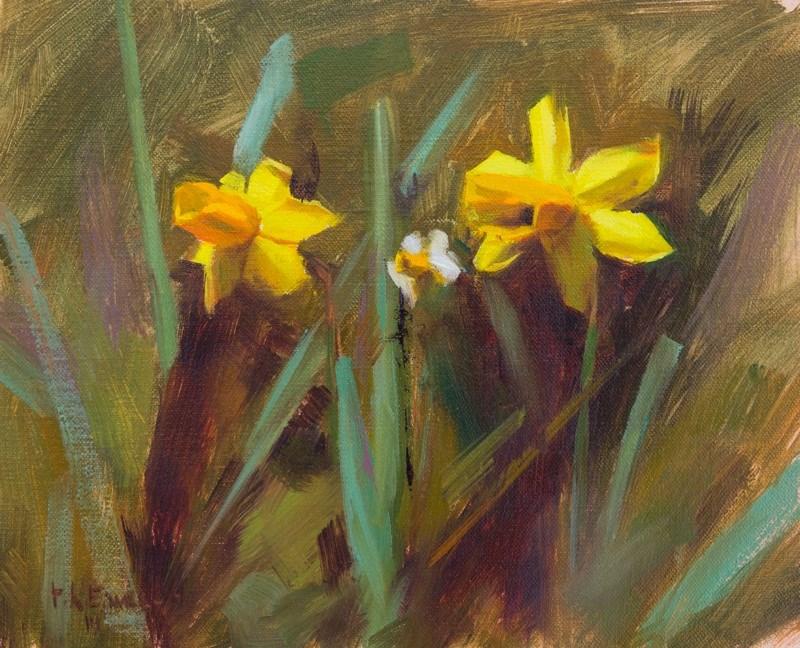 """Trumpet Daffodils"" original fine art by Thorgrimur Andri Einarsson"