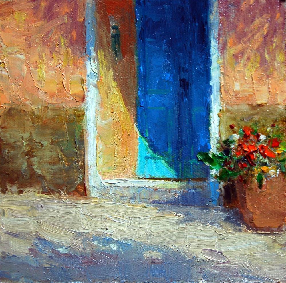 """Doorway Shadow"" original fine art by Julie Ford Oliver"