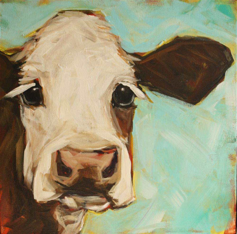 """Moofasa"" original fine art by Kandice Keith"