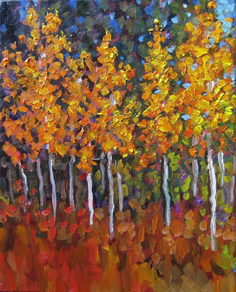 """ASPEN GLADE"" original fine art by Dee Sanchez"